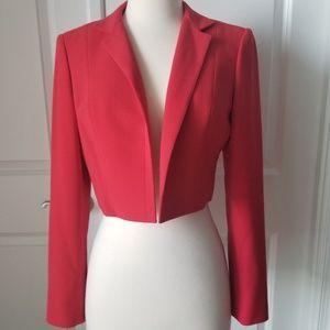Ann Klein Cropped Blazer Jacket Tailored